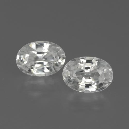 1.2ct Oval Facet White Zircon Gem (ID: 439115)