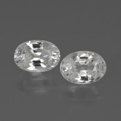 1.2ct Oval Facet White Zircon Gem (ID: 439143)