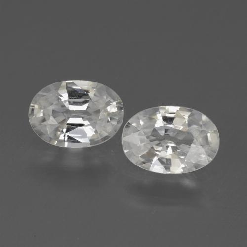 1ct Oval Facet White Zircon Gem (ID: 439144)