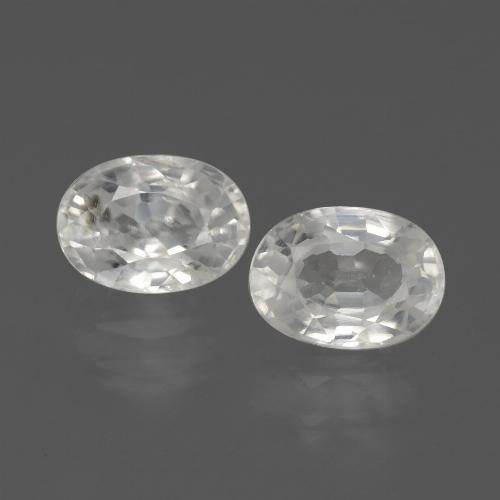 1.3ct Oval Facet White Zircon Gem (ID: 439145)