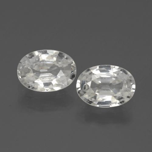 1.2ct Oval Facet White Zircon Gem (ID: 439146)