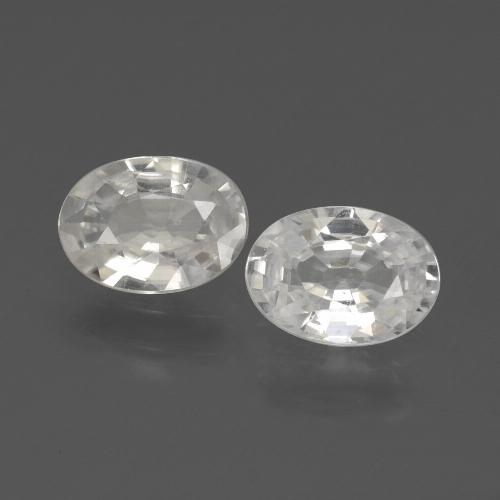 1.1ct Oval Facet White Zircon Gem (ID: 439147)