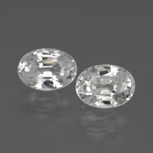 1.4ct Oval Facet White Zircon Gem (ID: 439148)