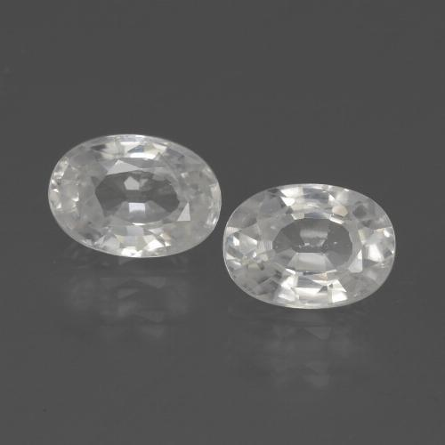 1.3ct Oval Facet White Zircon Gem (ID: 439149)