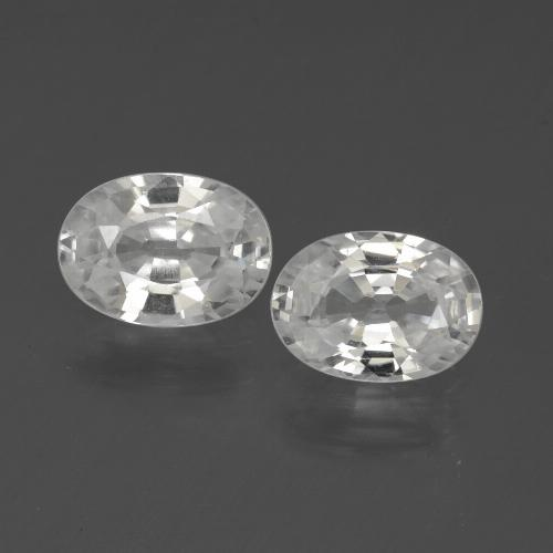 1.2ct Oval Facet White Zircon Gem (ID: 439151)