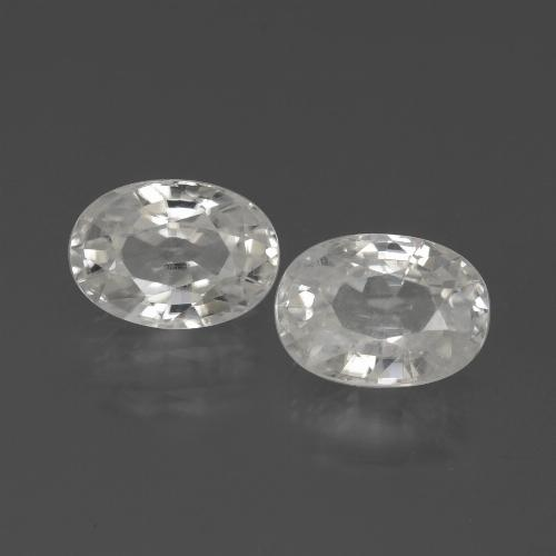 1.4ct Oval Facet White Zircon Gem (ID: 439152)