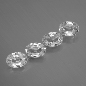 1.1ct Oval Facet White Zircon Gem (ID: 439194)
