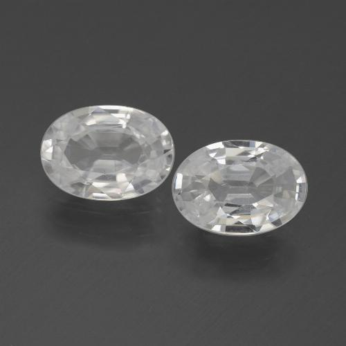 1ct Oval Facet White Zircon Gem (ID: 439225)