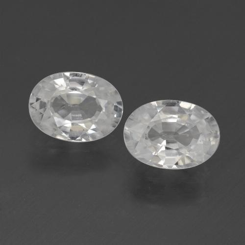 1.2ct Oval Facet White Zircon Gem (ID: 439226)