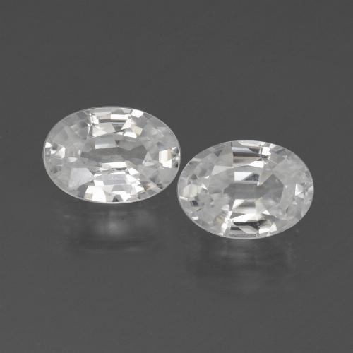 1.2ct Oval Facet White Zircon Gem (ID: 439230)