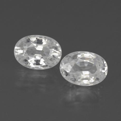 1.4ct Oval Facet White Zircon Gem (ID: 439232)