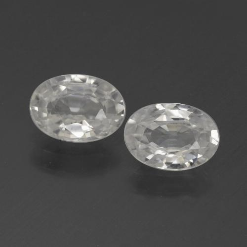 1ct Oval Facet White Zircon Gem (ID: 439233)