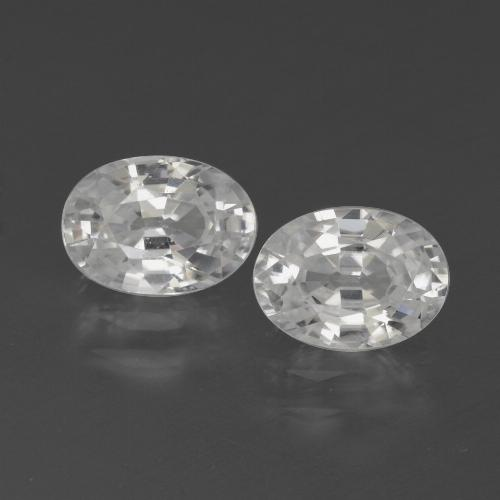 1.3ct Oval Facet White Zircon Gem (ID: 439235)