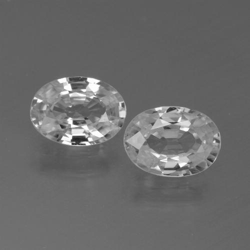 1.2ct Oval Facet White Zircon Gem (ID: 439249)