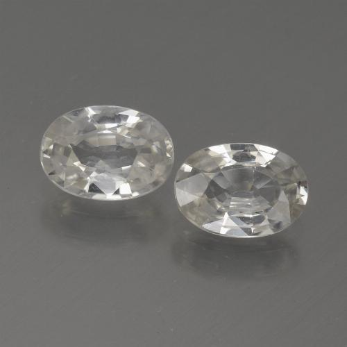 1.1ct Oval Facet White Zircon Gem (ID: 439253)