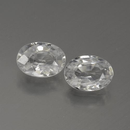 1.1ct Oval Facet White Zircon Gem (ID: 439254)