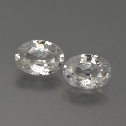 1.1ct Oval Facet White Zircon Gem (ID: 439256)