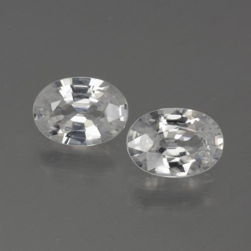 1.1ct Oval Facet White Zircon Gem (ID: 439257)