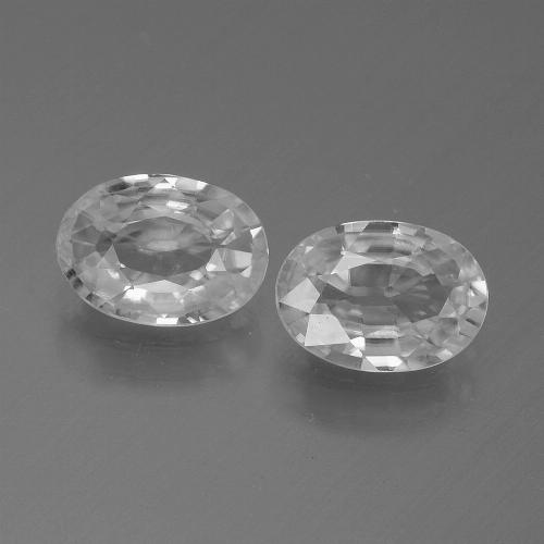 1.1ct Oval Facet White Zircon Gem (ID: 439259)