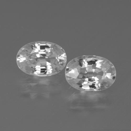 1.3ct Oval Facet White Zircon Gem (ID: 439260)