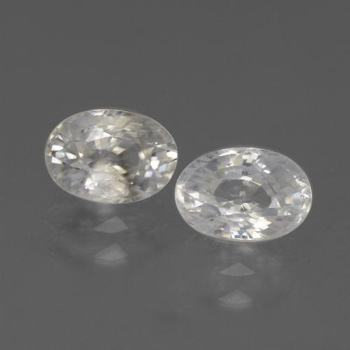 1.3ct Oval Facet White Zircon Gem (ID: 439273)