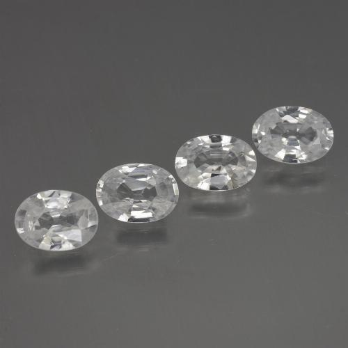 1ct Oval Facet White Zircon Gem (ID: 439284)