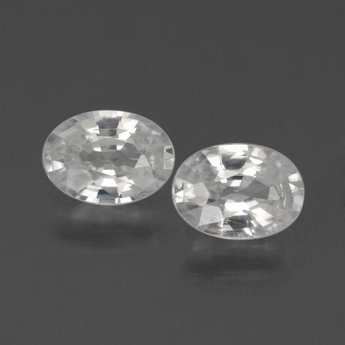 1.2ct Oval Facet White Zircon Gem (ID: 439322)