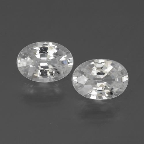 1.2ct Oval Facet White Zircon Gem (ID: 439324)