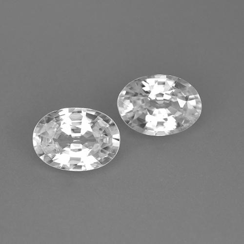 1.1ct Oval Facet White Zircon Gem (ID: 439325)