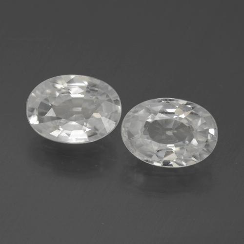 1.2ct Oval Facet White Zircon Gem (ID: 439327)