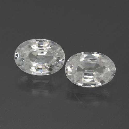 1.2ct Oval Facet White Zircon Gem (ID: 439328)