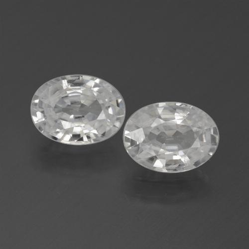 1.2ct Oval Facet White Zircon Gem (ID: 439330)