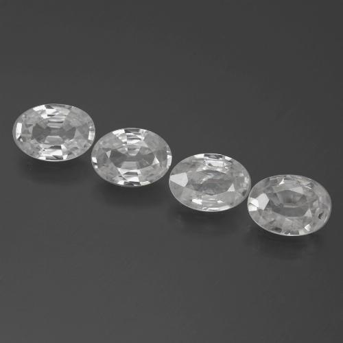 1ct Oval Facet White Zircon Gem (ID: 439361)