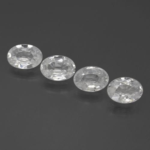 1ct Oval Facet White Zircon Gem (ID: 439363)