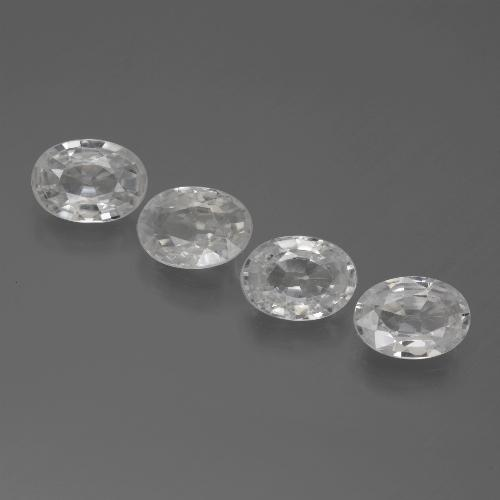 1ct Oval Facet White Zircon Gem (ID: 439385)
