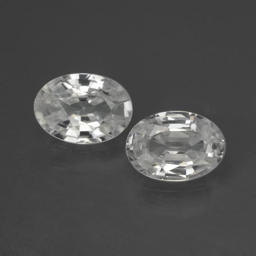 1.1ct Oval Facet White Zircon Gem (ID: 439710)