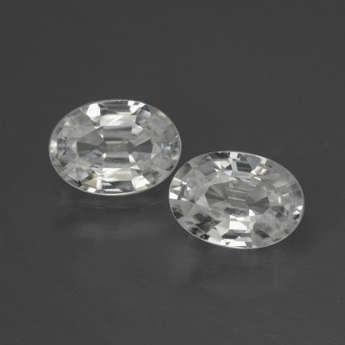 White Zircon Gem - 1.2ct Oval Facet (ID: 439711)