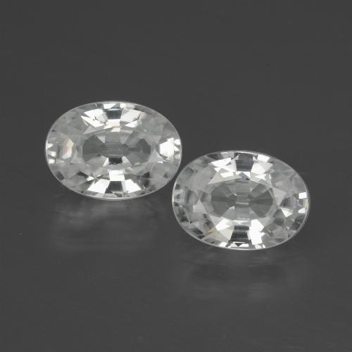 White Zircon Gem - 1.3ct Oval Facet (ID: 439713)