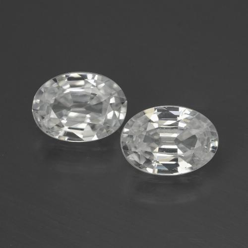 1.1ct Oval Facet White Zircon Gem (ID: 439714)