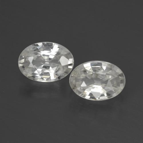 1.1ct Oval Facet White Zircon Gem (ID: 439715)