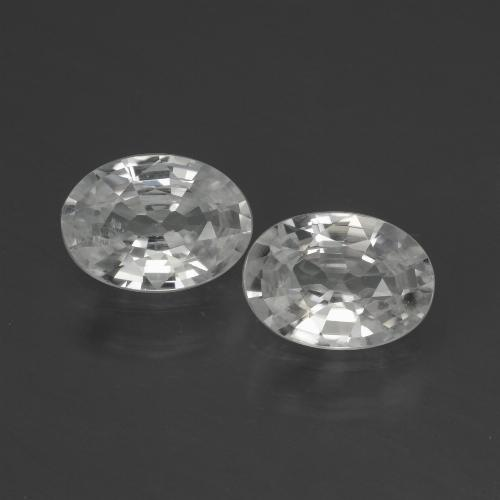 1ct Oval Facet White Zircon Gem (ID: 439717)