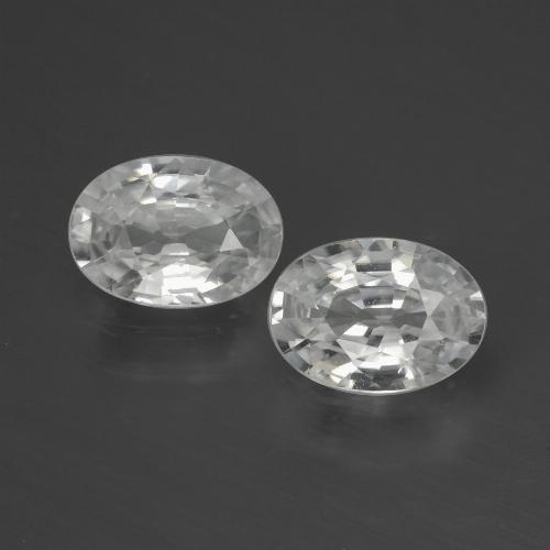 White Zircon Gem - 1.1ct Oval Facet (ID: 439719)