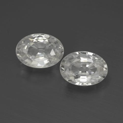 1.1ct Oval Facet White Zircon Gem (ID: 439721)