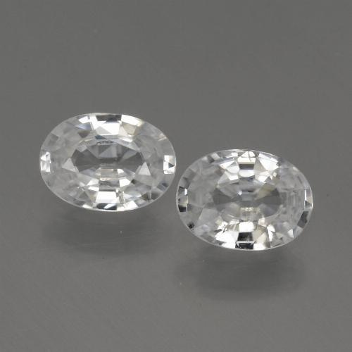 1.1ct Oval Facet White Zircon Gem (ID: 439777)