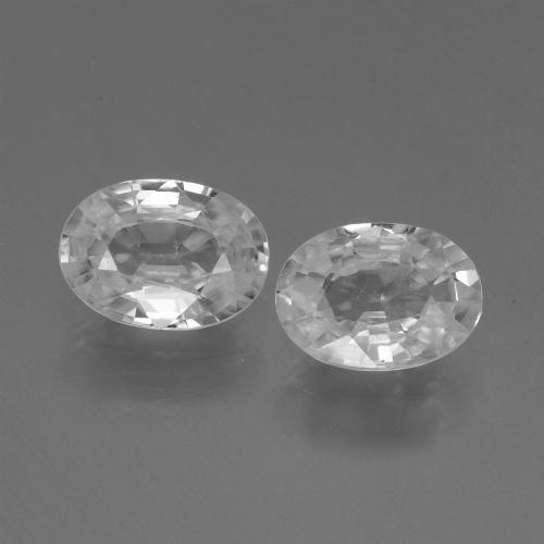 1.2ct Oval Facet White Zircon Gem (ID: 439778)