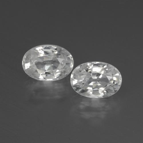 1.4ct Oval Facet White Zircon Gem (ID: 439892)