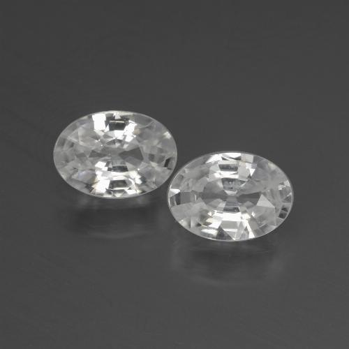 1.1ct Oval Facet White Zircon Gem (ID: 439893)
