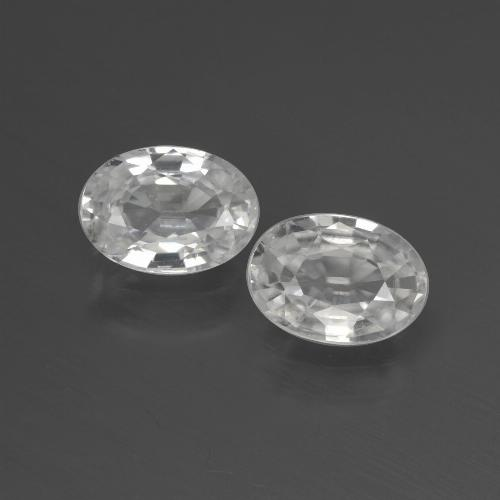 1.2ct Oval Facet White Zircon Gem (ID: 439894)