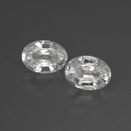 1.2ct Oval Facet White Zircon Gem (ID: 439895)