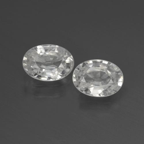 1.2ct Oval Facet White Zircon Gem (ID: 439897)